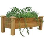 Cedar patio planter gard edge