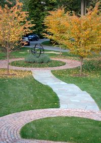 1-Riverhouse_9 cherry tree circle, armillary and entry walkEDITED