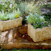 RectangularRoughPlanter-Stone Forest