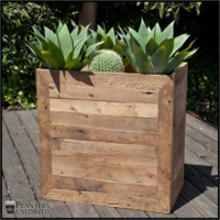 Reclaimed-wood-planters